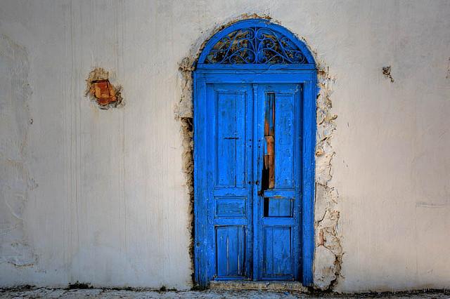 The Blue Door A Poem L Ennemi