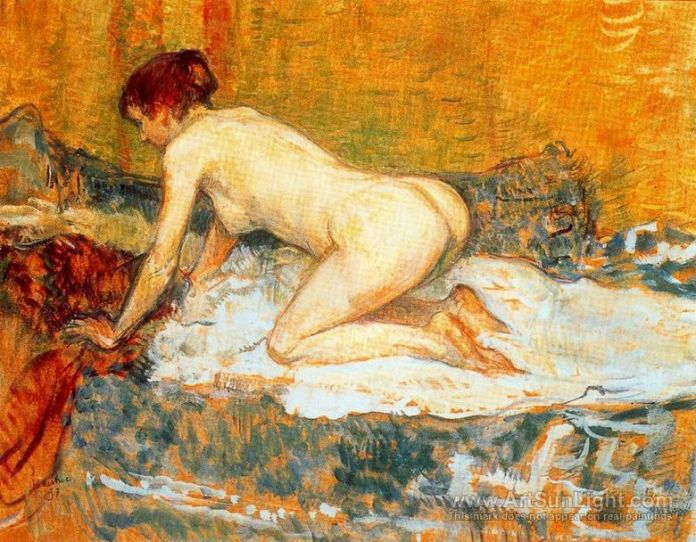 crouching-woman-with-red-hair-by-Henri-de-Toulouse-Lautrec-0127