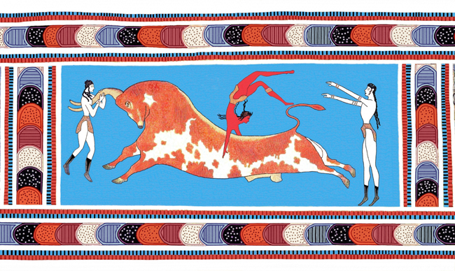 Minoan_Bull_Leaping_Toreador_Fresco_Art_650px
